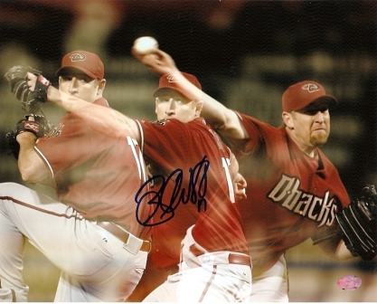 Brandon Webb Signed Dbacks 8x10 - Triple Exposure