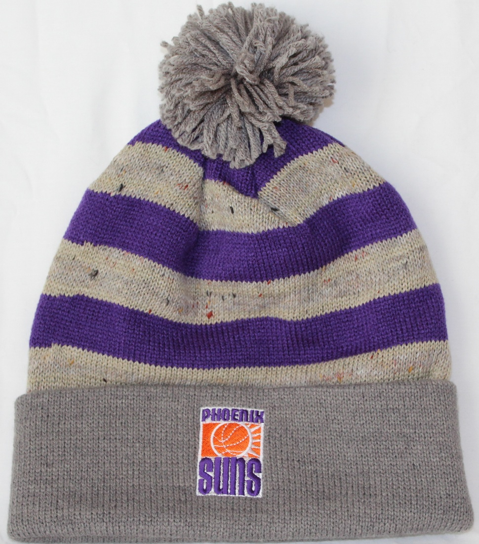 "Phoenix Suns Mitchell & Ness NBA ""Speckled Crown"" Cuffed Knit Hat w/ Pom"