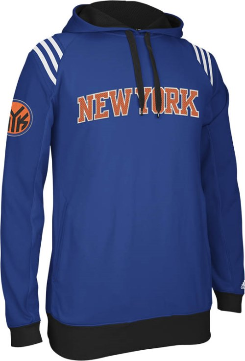 New York Knicks Adidas 2013 NBA 3 Stripe Pullover Sweatshirt
