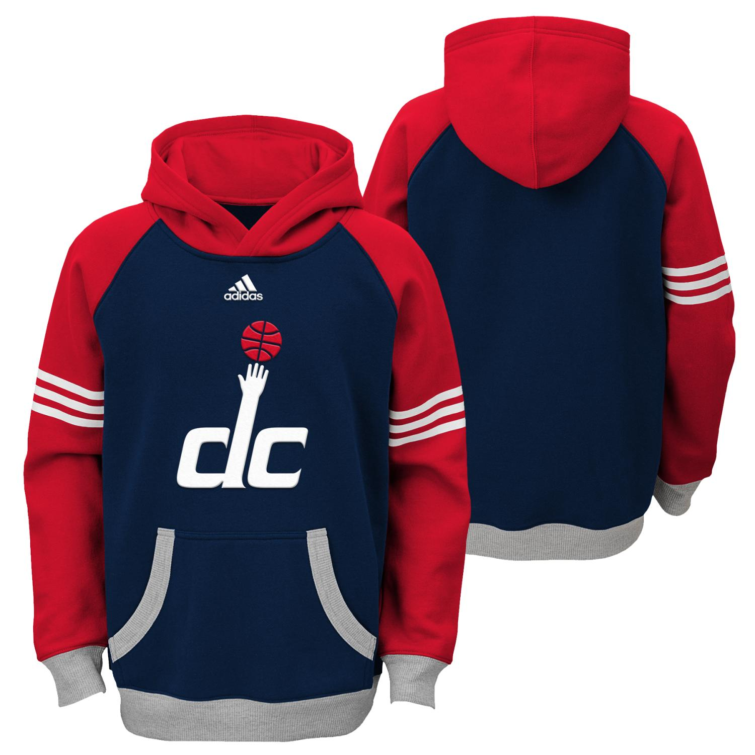 "Washington Wizards Youth NBA Adidas ""Robust"" Pullover Hooded Sweatshirt"