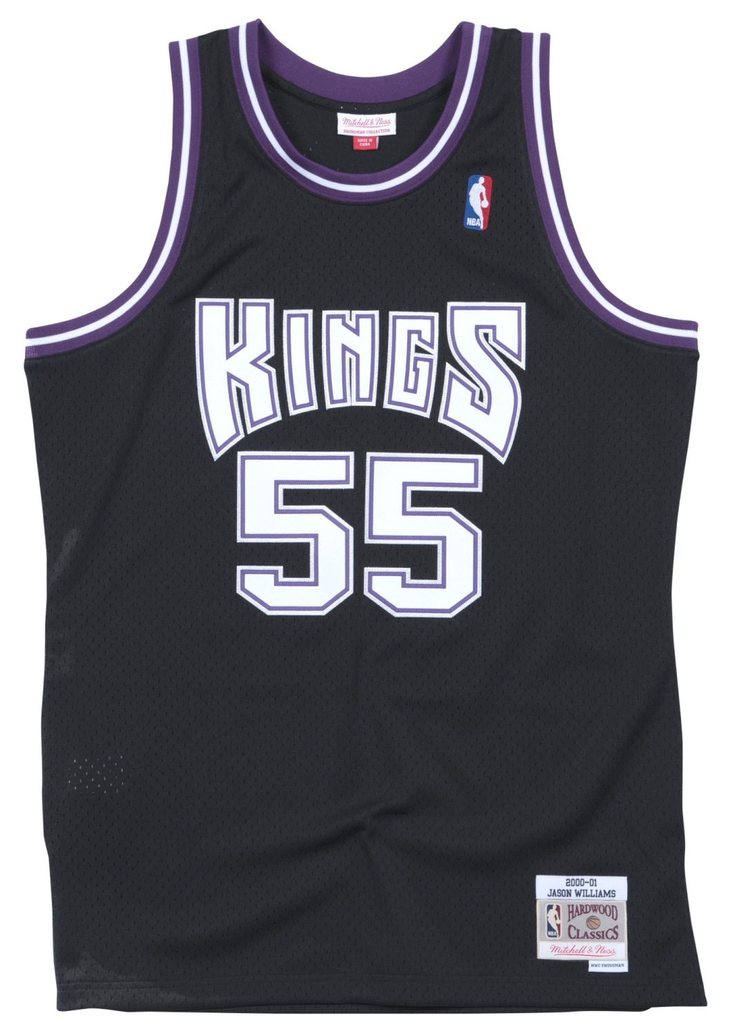 Jason Williams Sacramento Kings Mitchell & Ness NBA Swingman 00-01 Jersey -Black