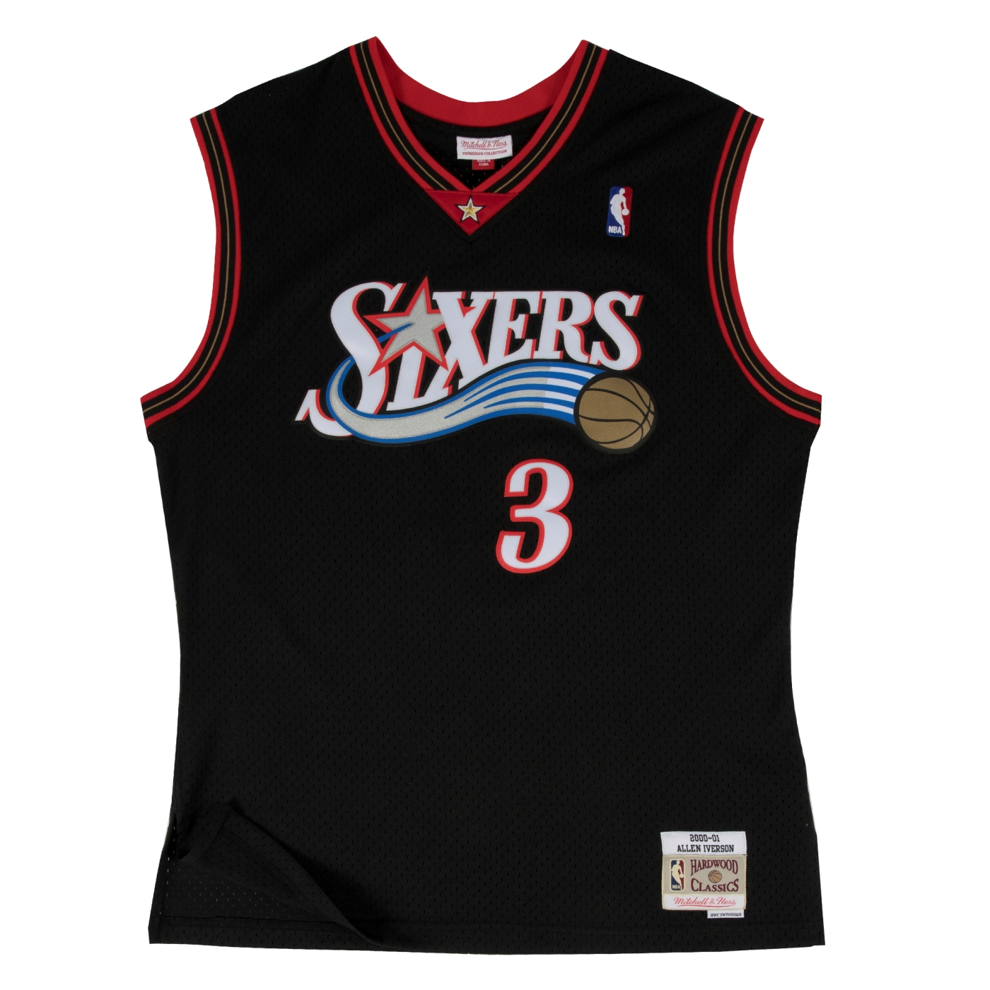 Allen Iverson Philadelphia 76ers Mitchell & Ness NBA Throwback Jersey - Black
