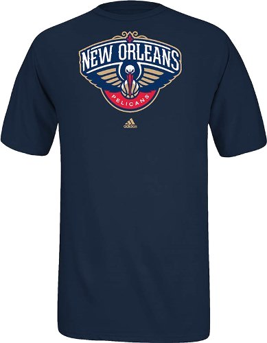 New Orleans Pelicans Adidas NBA Full Primary Logo T-Shirt - Navy
