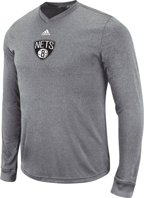 Brooklyn Nets Adidas 2013 NBA Pre-Game Climalite Long Sleeve Shirt