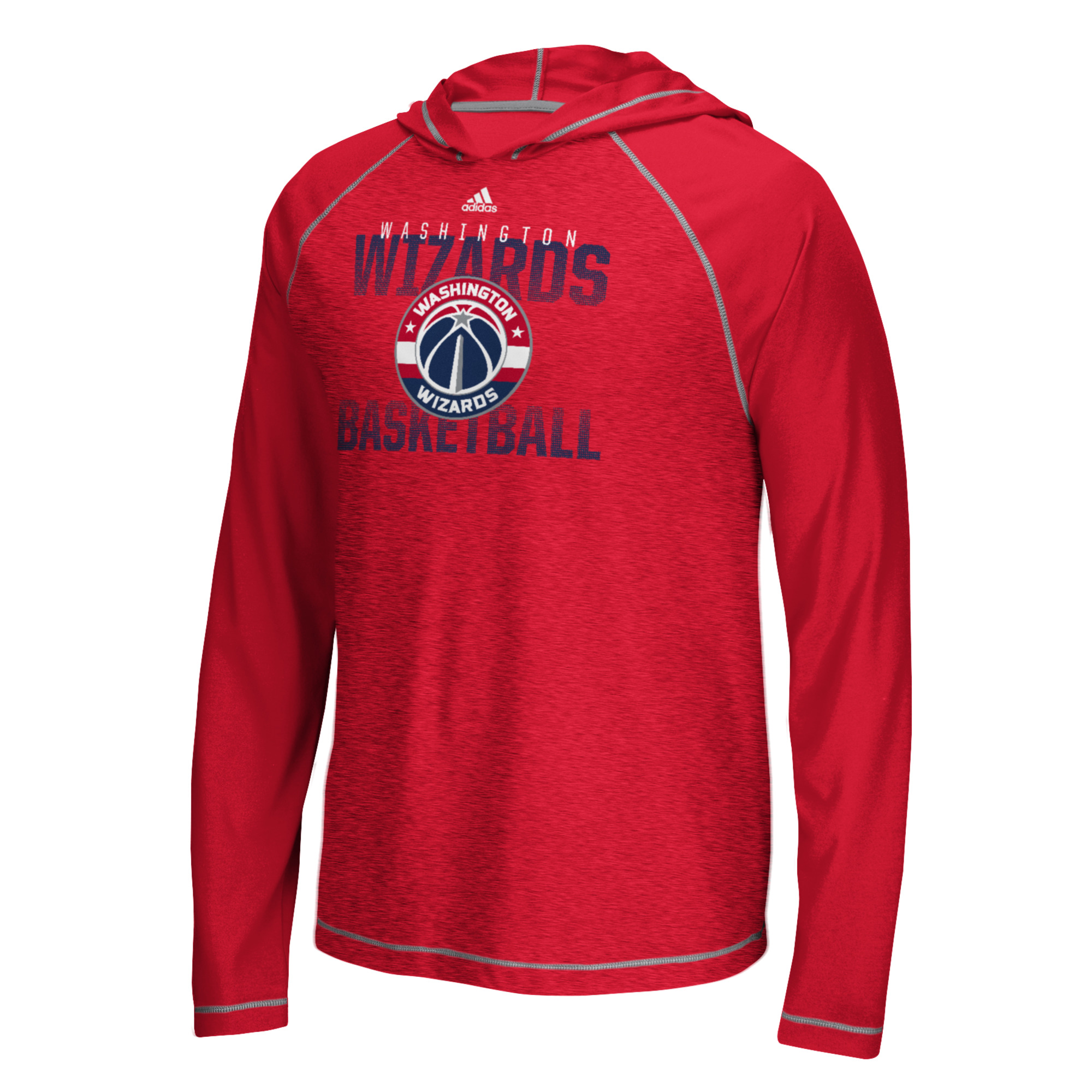 "Washington Wizards Adidas NBA ""Fade Away"" Men's Climalite Hooded L/S Shirt"