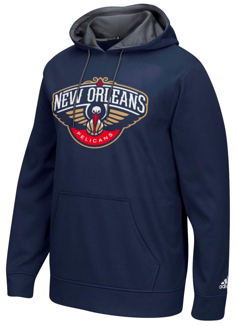 "New Orleans Pelicans Adidas 2016 NBA ""Playbook"" Men's Hooded Sweatshirt"
