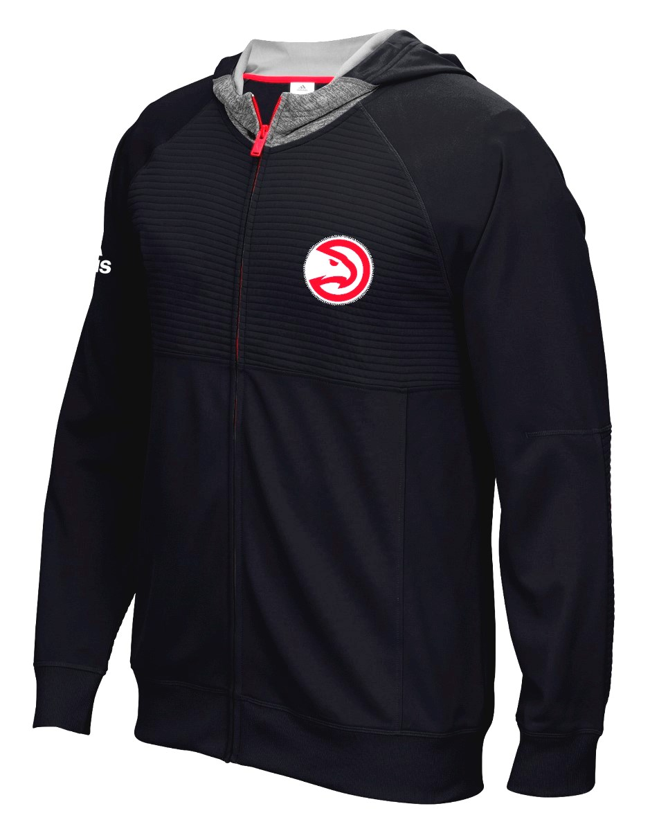 "Atlanta Hawks Adidas 2016 NBA Men's On-Court ""Pre-Game"" Full Zip Hooded Jacket"