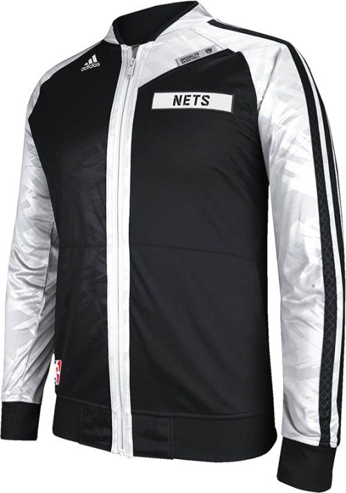 Brooklyn Nets Adidas 2013 NBA On-Court Premium Full Zip Jacket