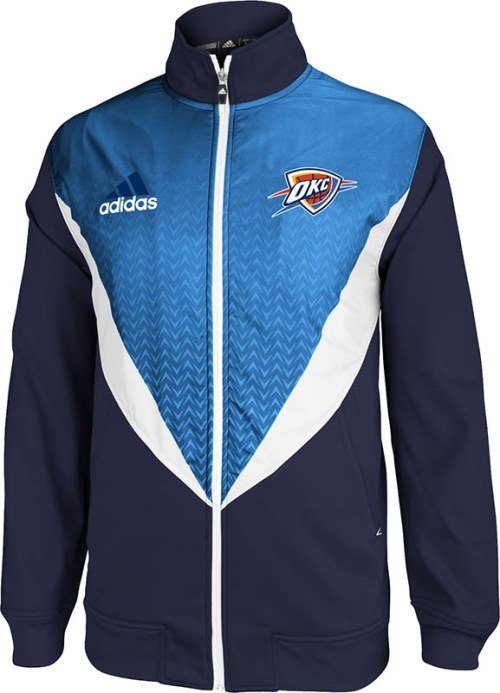 Oklahoma City Thunder Adidas 2013 NBA Resonate Performance Jacket