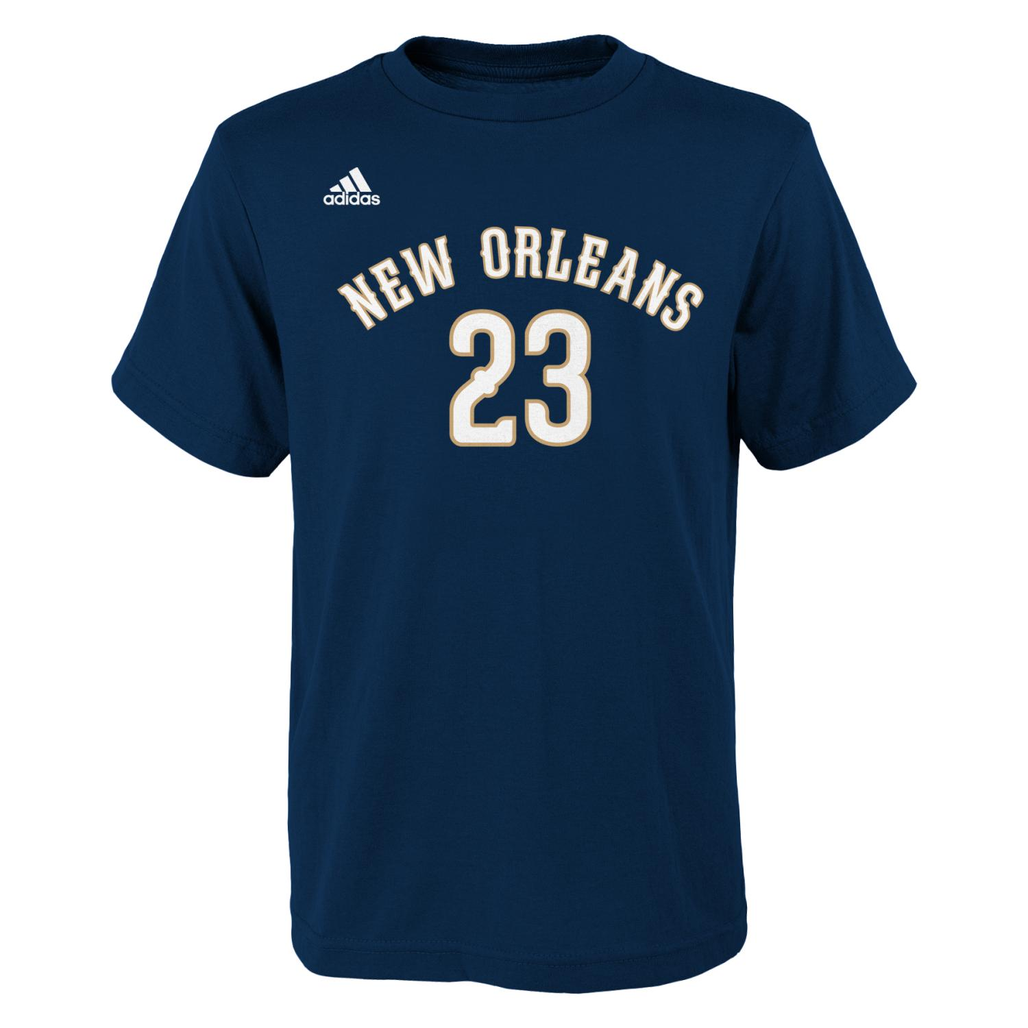 Anthony Davis New Orleans Pelicans Youth Adidas NBA Player Navy T-Shirt