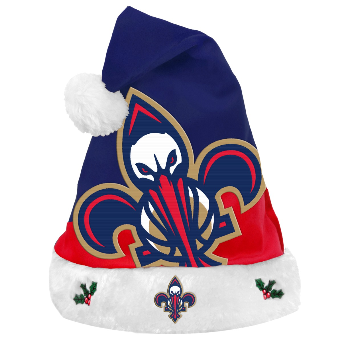 New Orleans Pelicans 2018 NBA Basic Logo Plush Christmas Santa Hat