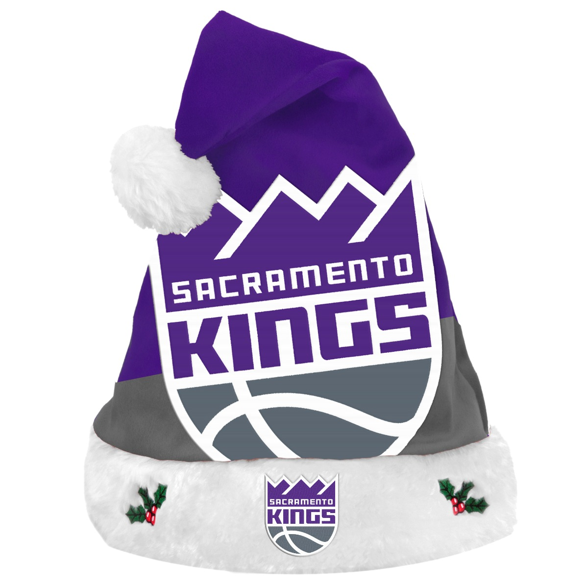 Sacramento Kings 2018 NBA Basic Logo Plush Christmas Santa Hat