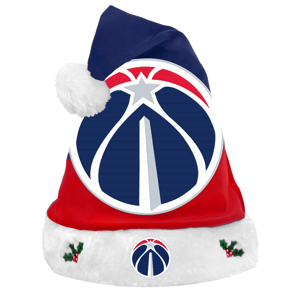 Washington Wizards 2018 NBA Basic Logo Plush Christmas Santa Hat