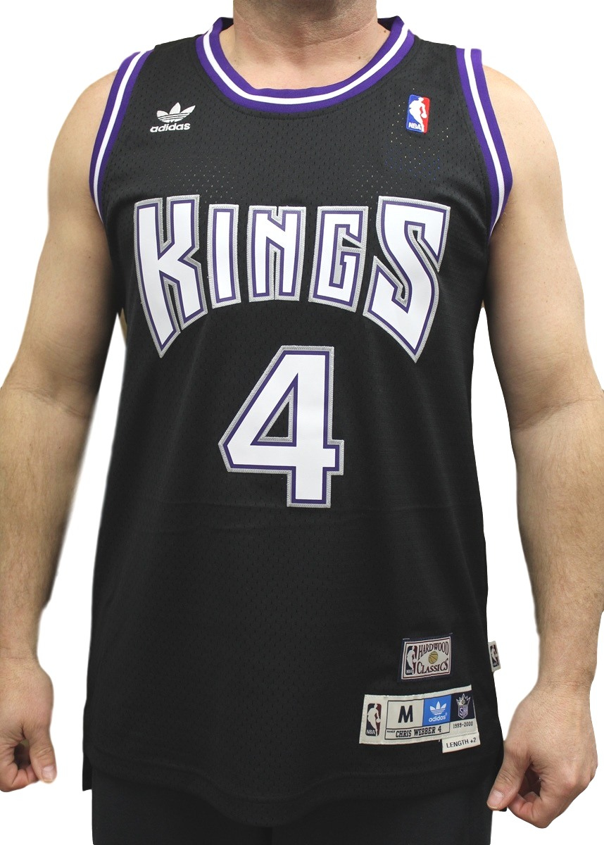 Chris Webber Sacramento Kings Adidas NBA Throwback Swingman Jersey - Black