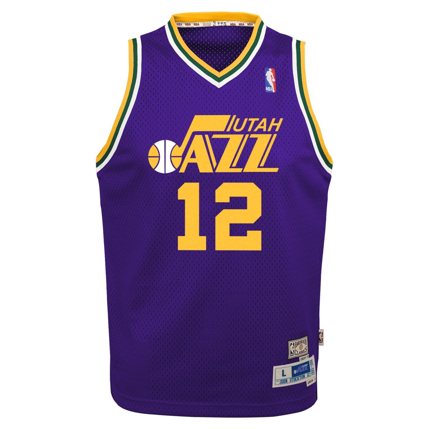 John Stockton Utah Jazz NBA Youth Throwback Swingman Jersey