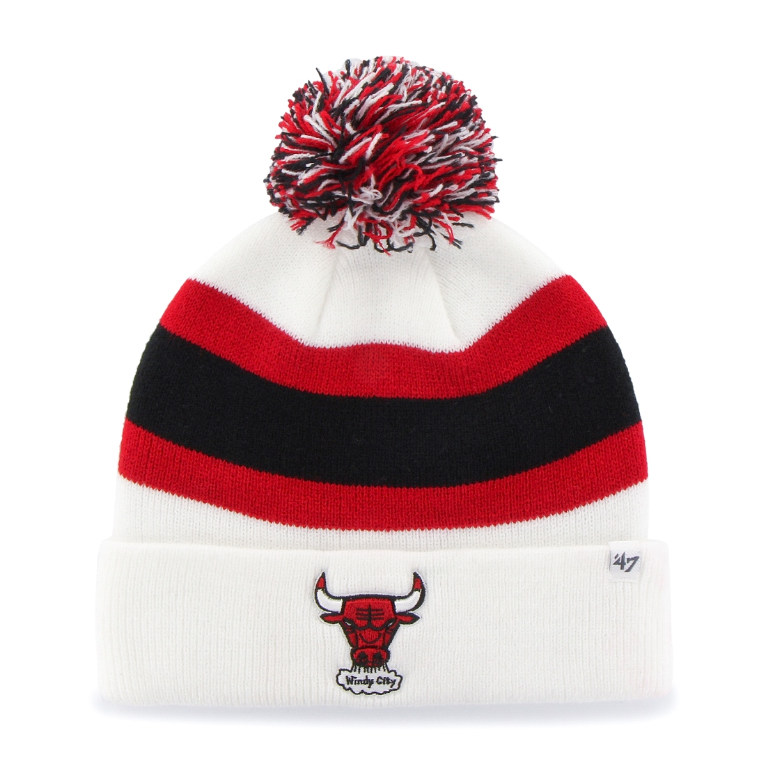 "Chicago Bulls 47 Brand NBA Vintage ""Breakaway"" Cuffed Knit Hat - White"