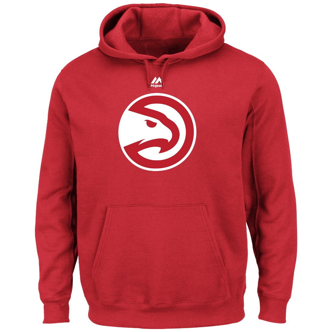 "Atlanta Hawks Majestic NBA ""Supreme Logo"" Men's Pullover Hooded Sweatshirt"