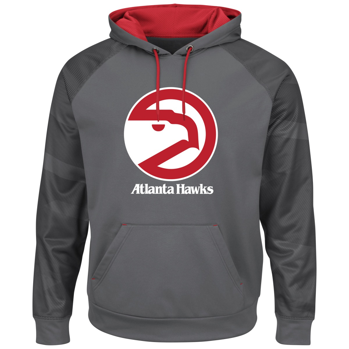 "Atlanta Hawks Majestic NBA ""Armor 2"" Men's Pullover Hooded Sweatshirt - Gray"