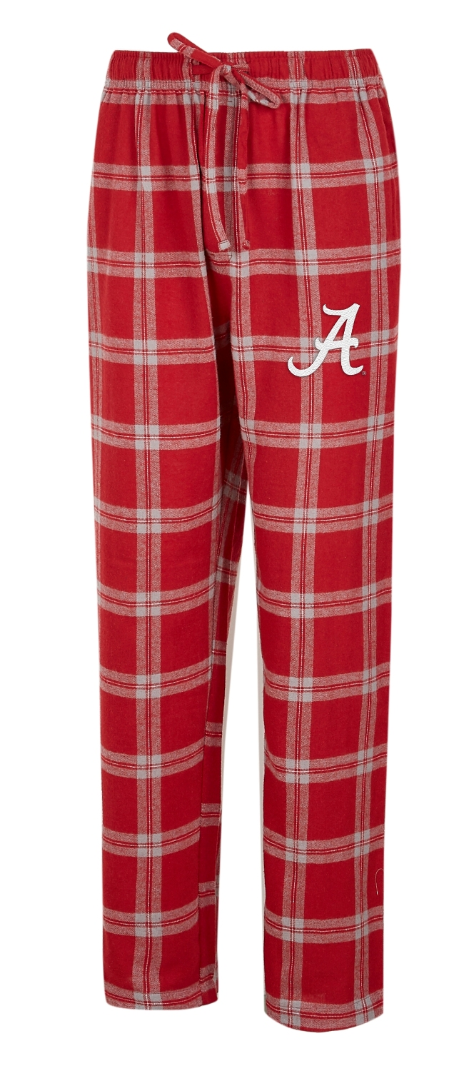 "Alabama Crimson Tide NCAA ""Homestretch"" Men's Flannel Pajama Sleep Pants"