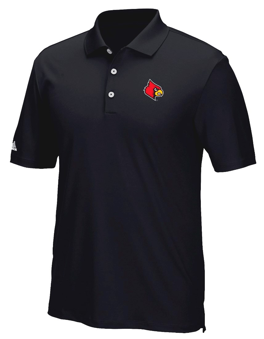 "Louisville Cardinals Adidas NCAA Men's ""Performance"" Climacool Polo Shirt"