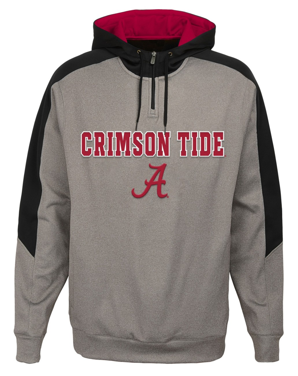 "Alabama Crimson Tide NCAA ""Illustrious"" Men's 1/4 Zip Pullover Hooded Jacket"