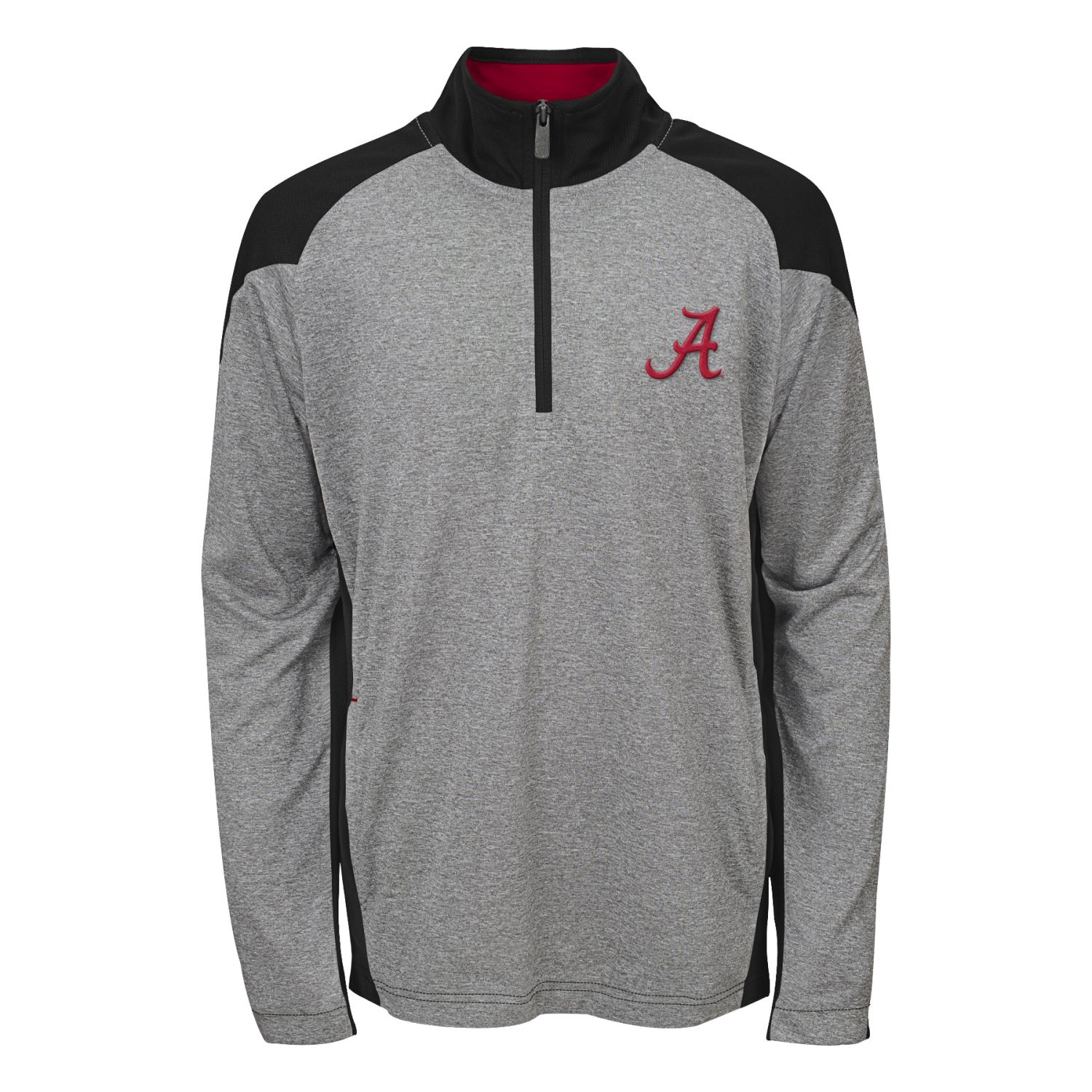 "Alabama Crimson Tide NCAA ""Helix"" Men's 1/4 Zip Pullover Jacket"