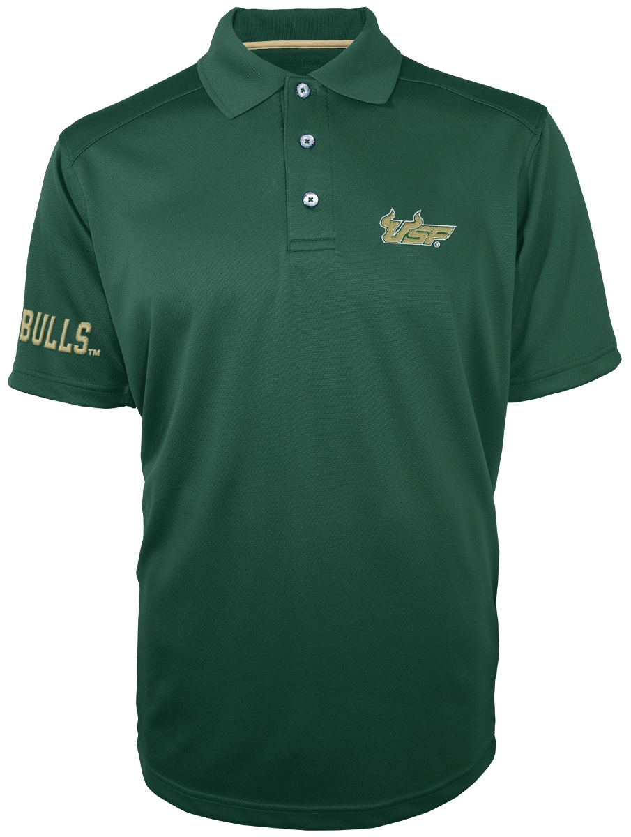 "South Florida Bulls Majestic NCAA ""Turnover"" Performance Polo Shirt - Green"