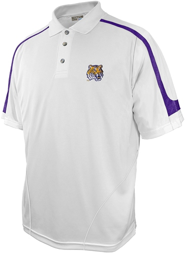 LSU Tigers Majestic NCAA Franchise White Polo Shirt