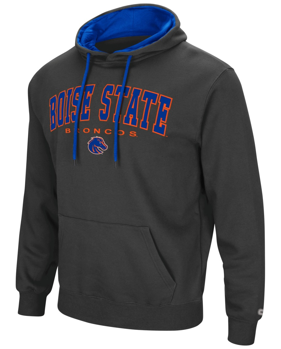 "Boise State Broncos NCAA ""End Zone"" Pullover Hooded Men's Sweatshirt - Charcoal"