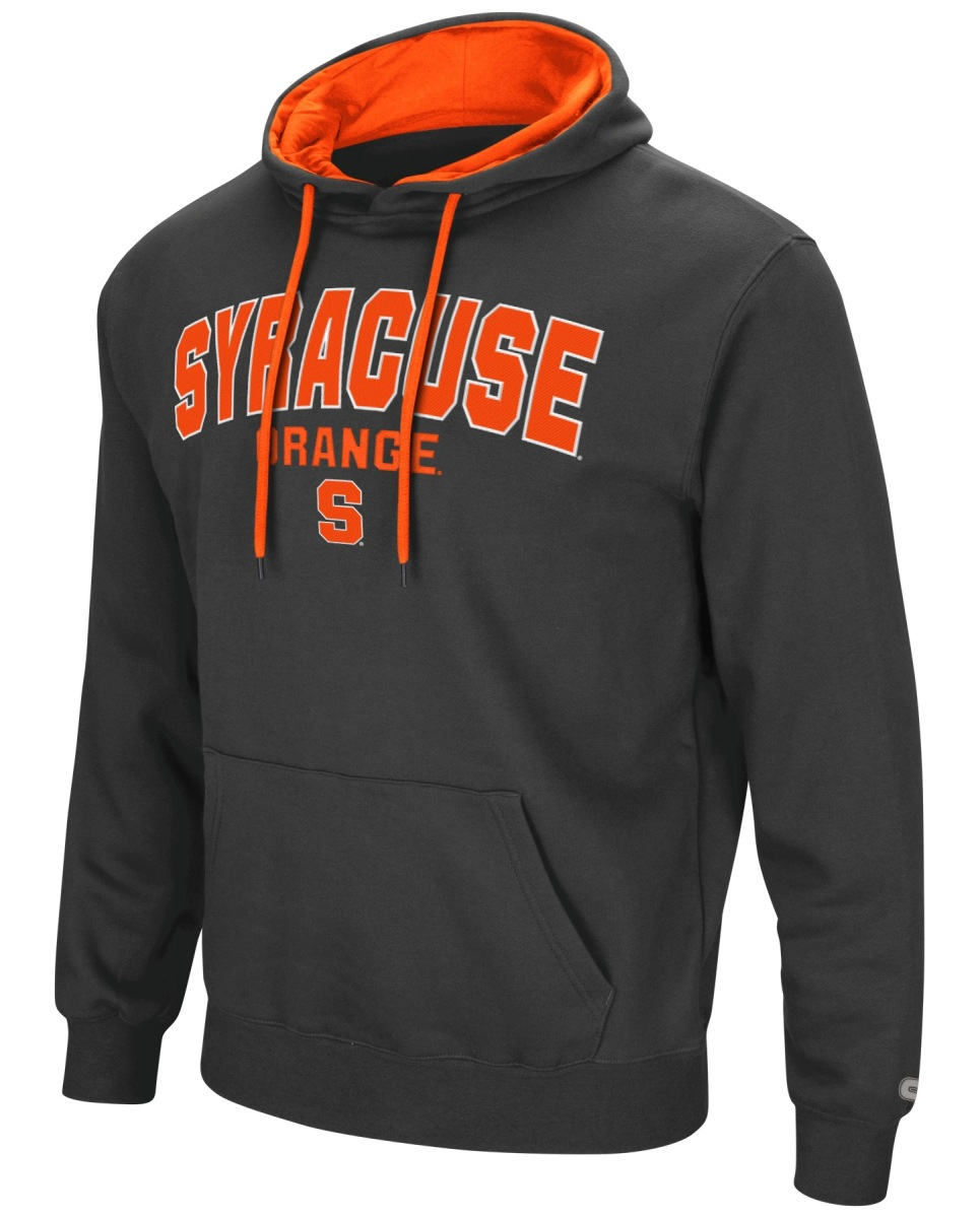 "Syracuse Orange NCAA ""End Zone"" Pullover Hooded Men's Sweatshirt - Charcoal"