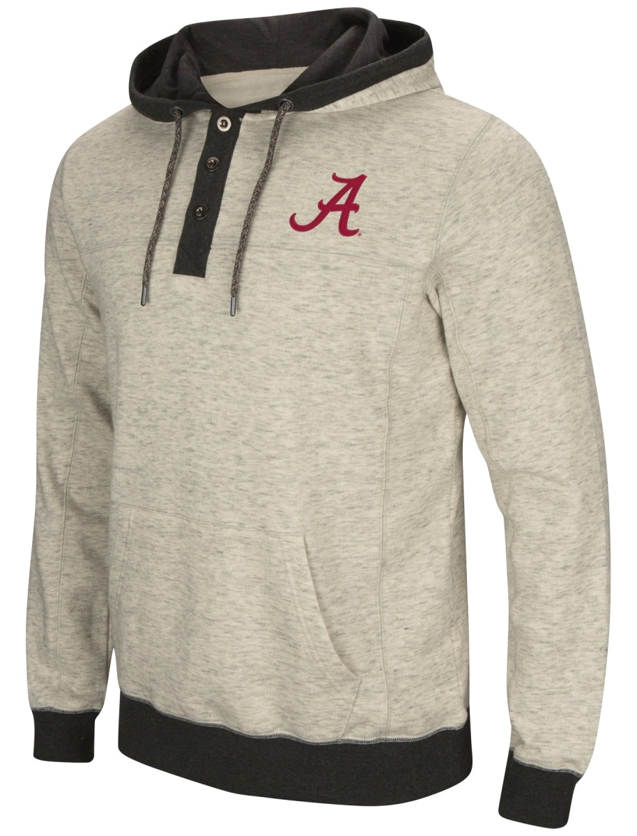 "Alabama Crimson Tide Men's NCAA ""Bolton"" Hooded Henley Sweatshirt"