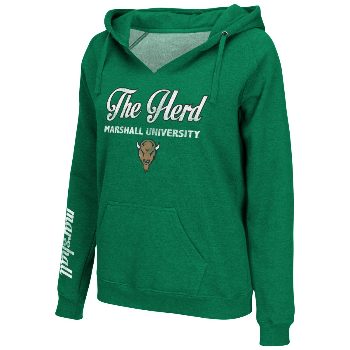 Marshall Thundering Herd Women's NCAA 2014 Throwback Pullover Hooded Sweatshirt