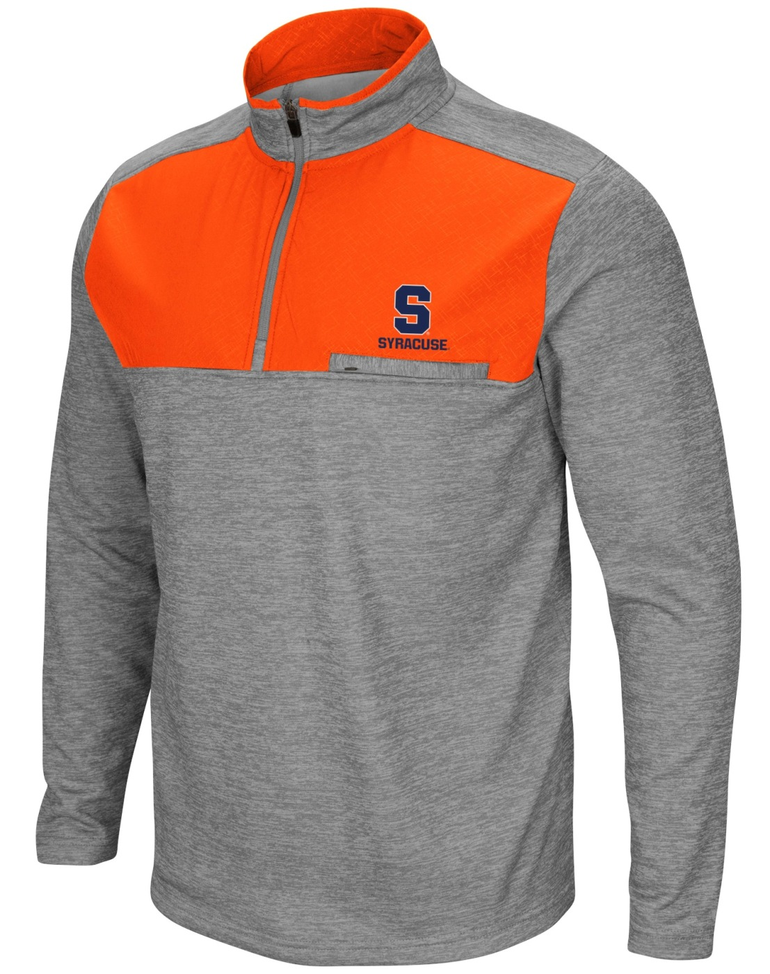 "Syracuse Orange NCAA ""Curl Route"" Men's 1/4 Zip Fleece Jacket"