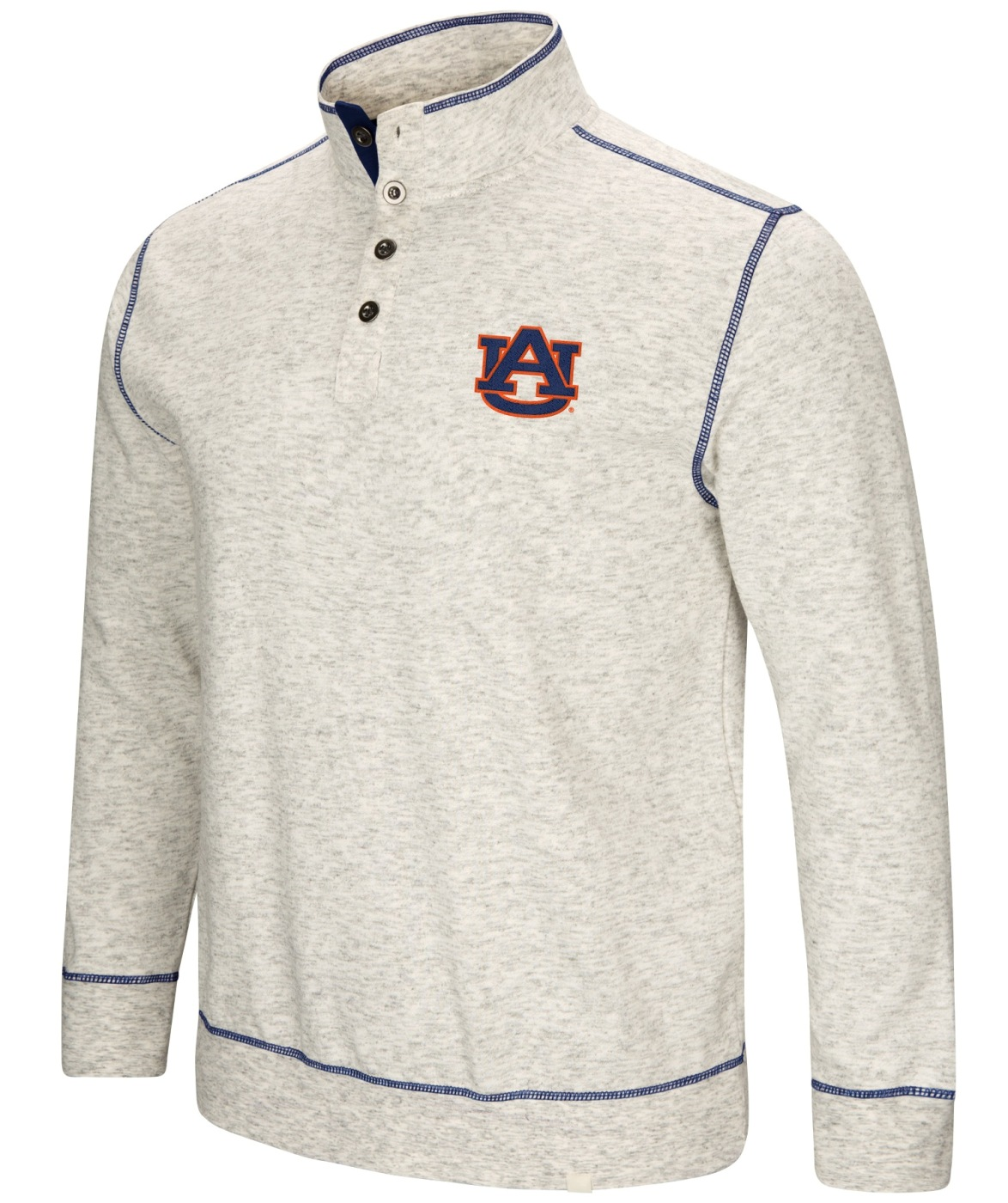"Auburn Tigers Men's NCAA ""Bowl Game"" 1/2 Button Up Henley Sweatshirt"