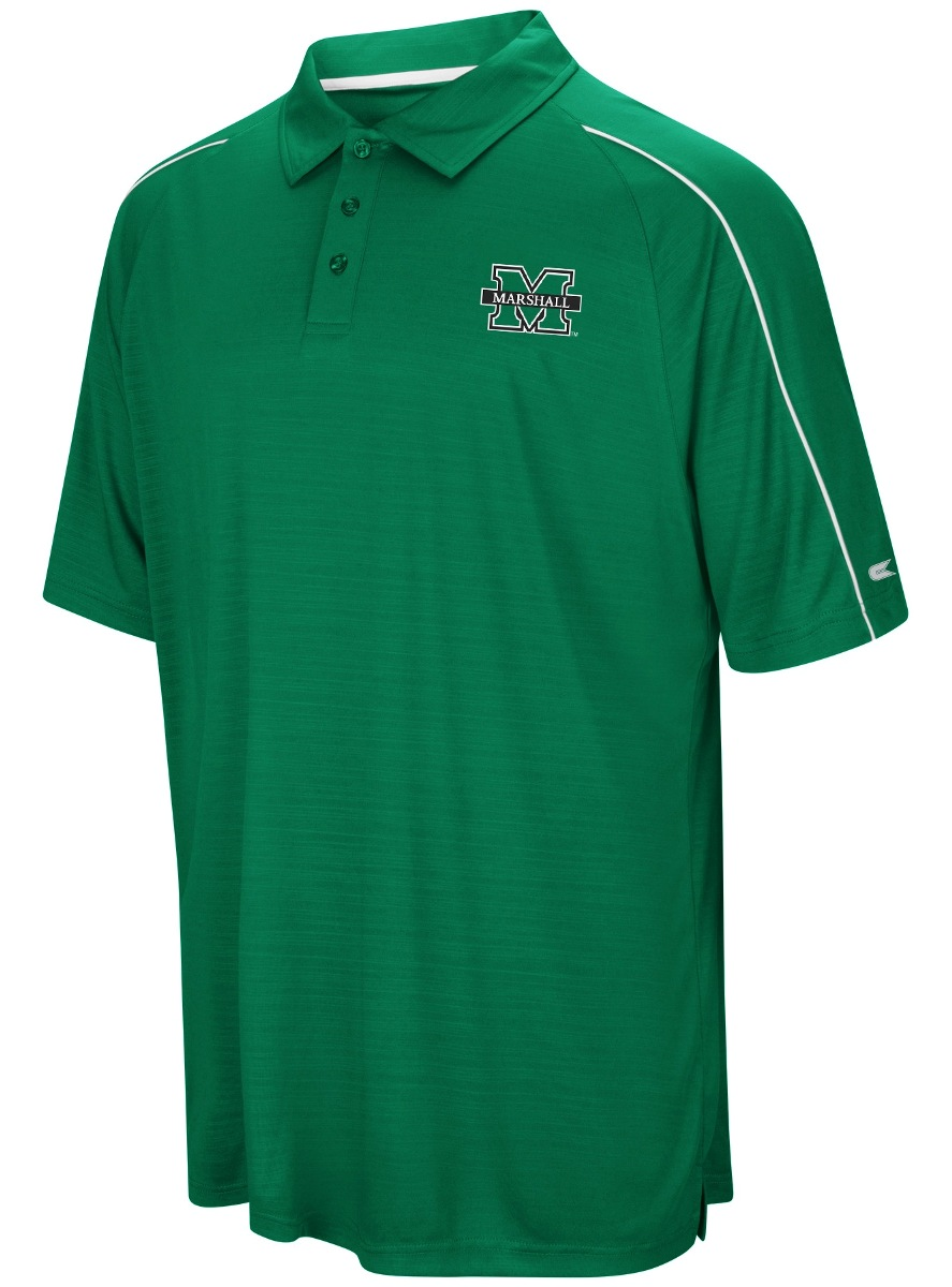 "Marshall Thundering Herd NCAA ""Setter"" Men's Performance Polo Shirt"