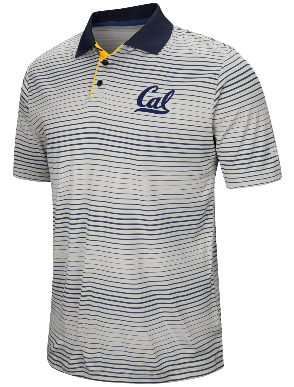 "California Golden Bears NCAA ""Number One"" Men's Performance Striped Polo Shirt"