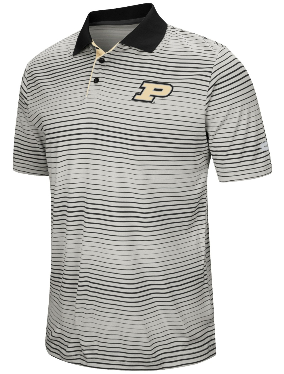 "Purdue Boilermakers NCAA ""Number One"" Men's Performance Striped Polo Shirt"