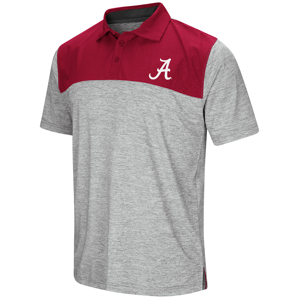 "Alabama Crimson Tide NCAA ""Clear Sailing"" Men's Performance Woven Polo Shirt"