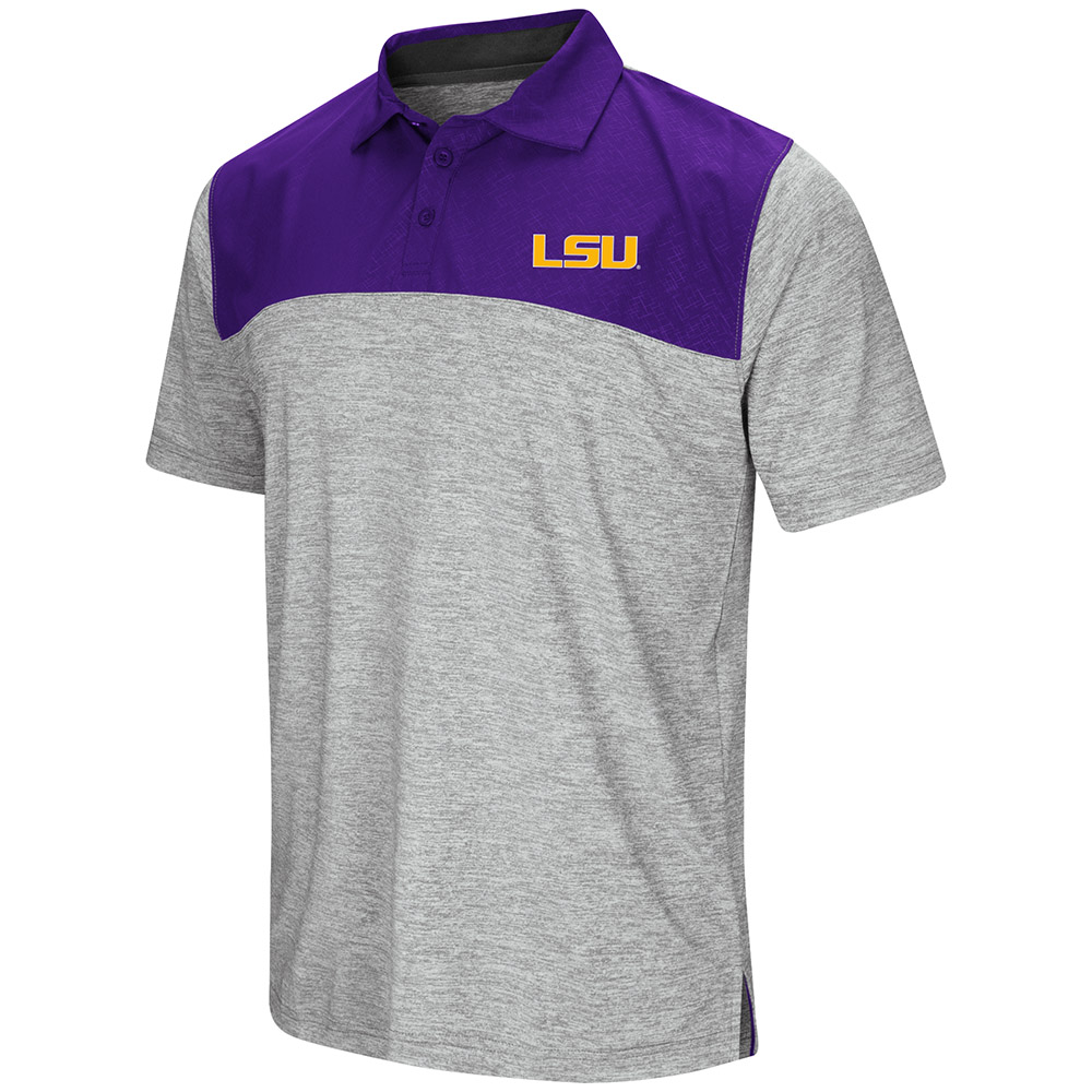"LSU Tigers NCAA ""Clear Sailing"" Men's Performance Woven Polo Shirt"