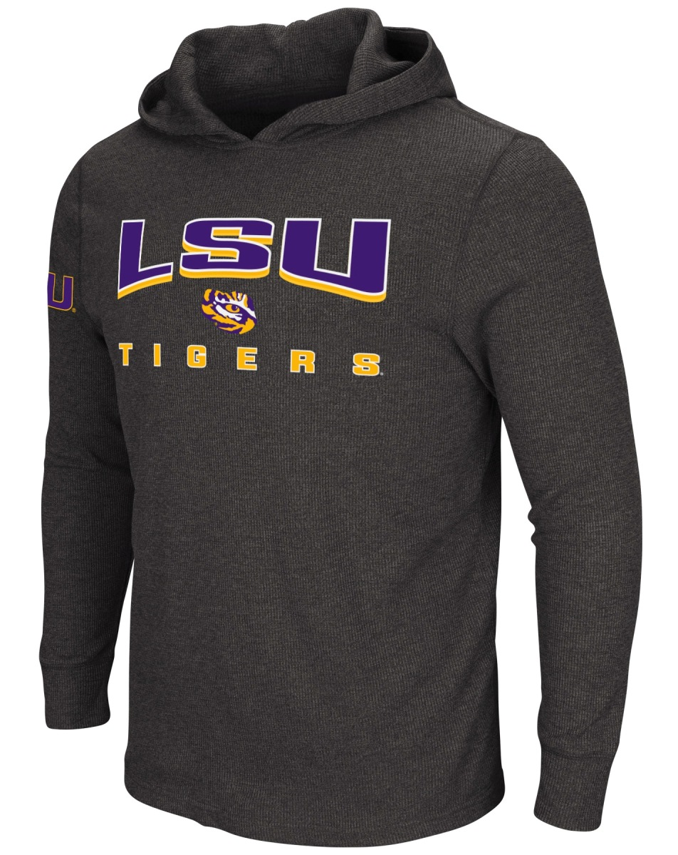"LSU Tigers NCAA ""Chotchkie"" Men's Long Sleeve Hooded Wind Shirt"