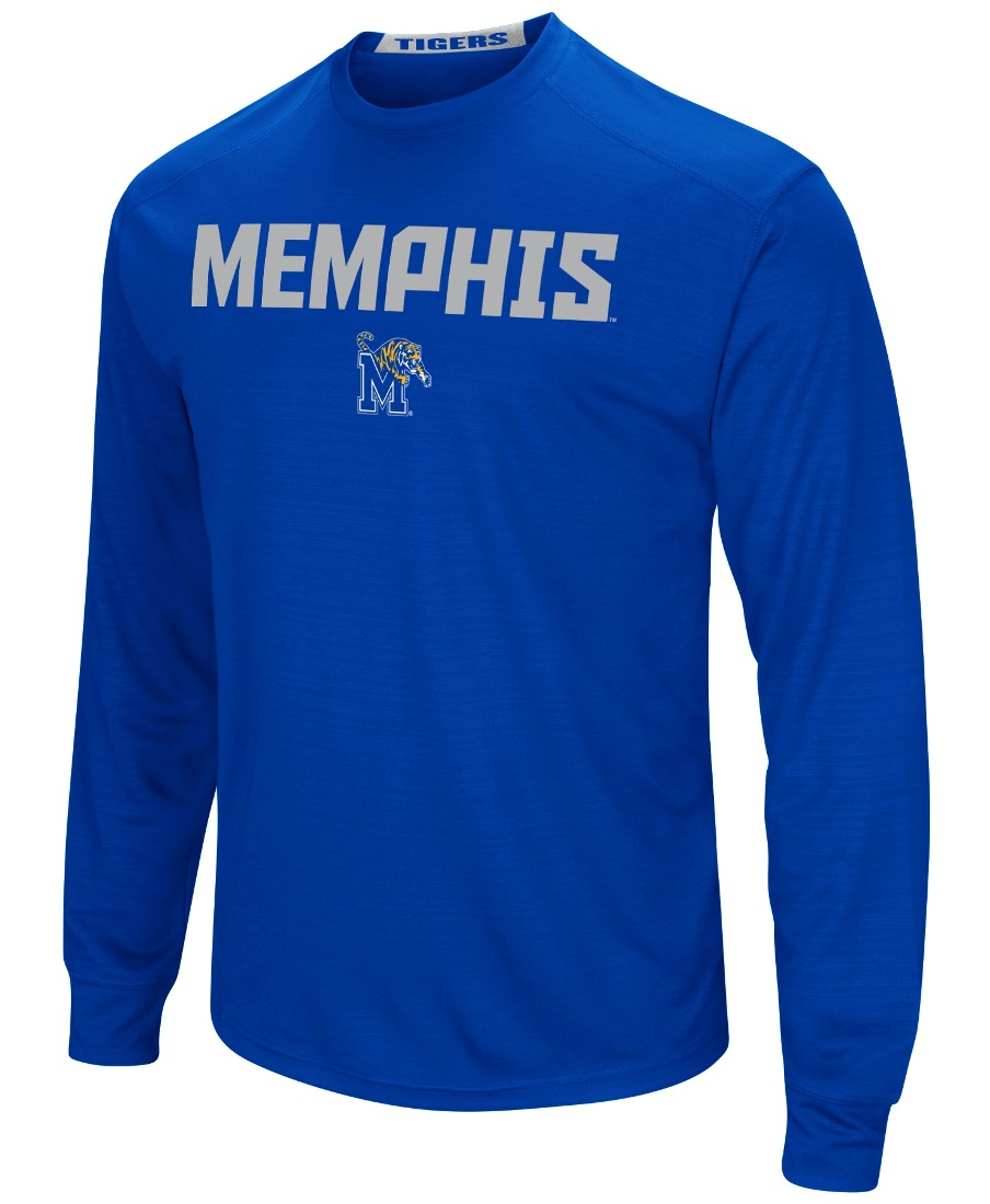 "Memphis Tigers NCAA ""Power Set"" Men's Long Sleeve Performance T-Shirt"