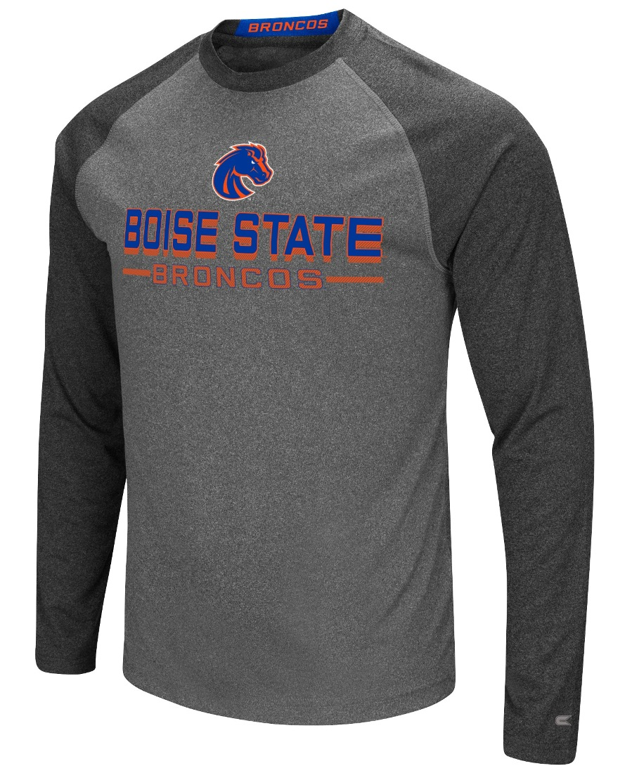 "Boise State Broncos NCAA ""Ultra"" Men's Long Sleeve Charcoal Raglan T-Shirt"