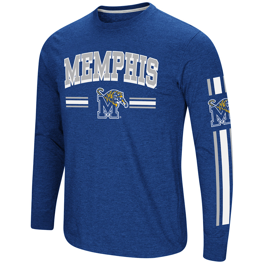 "Memphis Tigers NCAA ""Touchdown"" Men's Dual Blend Long Sleeve T-Shirt"