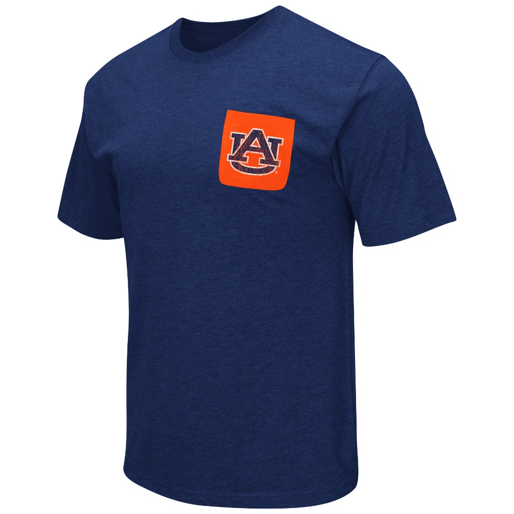 "Auburn Tigers NCAA ""Banya"" Men's Dual Blend S/S Pocket T-Shirt"