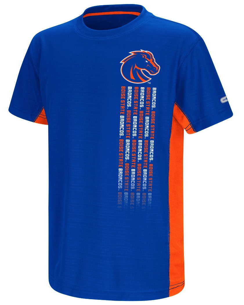 "Boise State Broncos NCAA ""Power Set"" Youth Short Sleeve Performance T-Shirt"