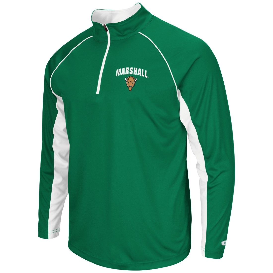 "Marshall Thundering Herd NCAA ""Lineman"" 1/4 Zip Pullover Raglan Men's Shirt"