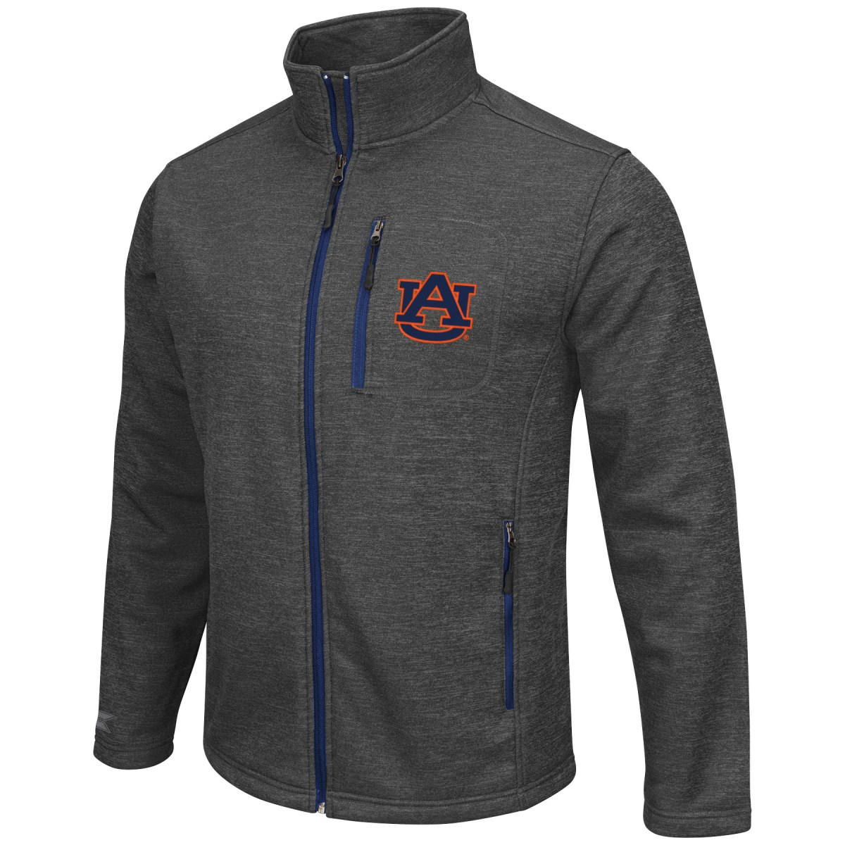 "Auburn Tigers NCAA ""Backfield 2"" Full Zip Men's Heather Charcoal Jacket"