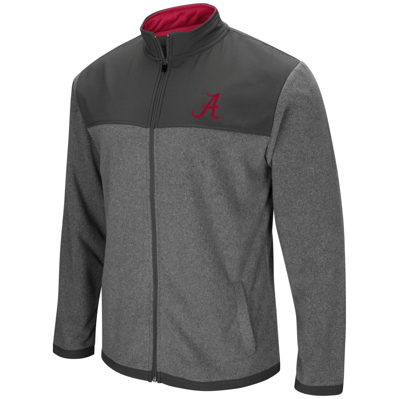 "Alabama Crimson Tide NCAA ""Gameplan"" Men's Full Zip Fleece Jacket"