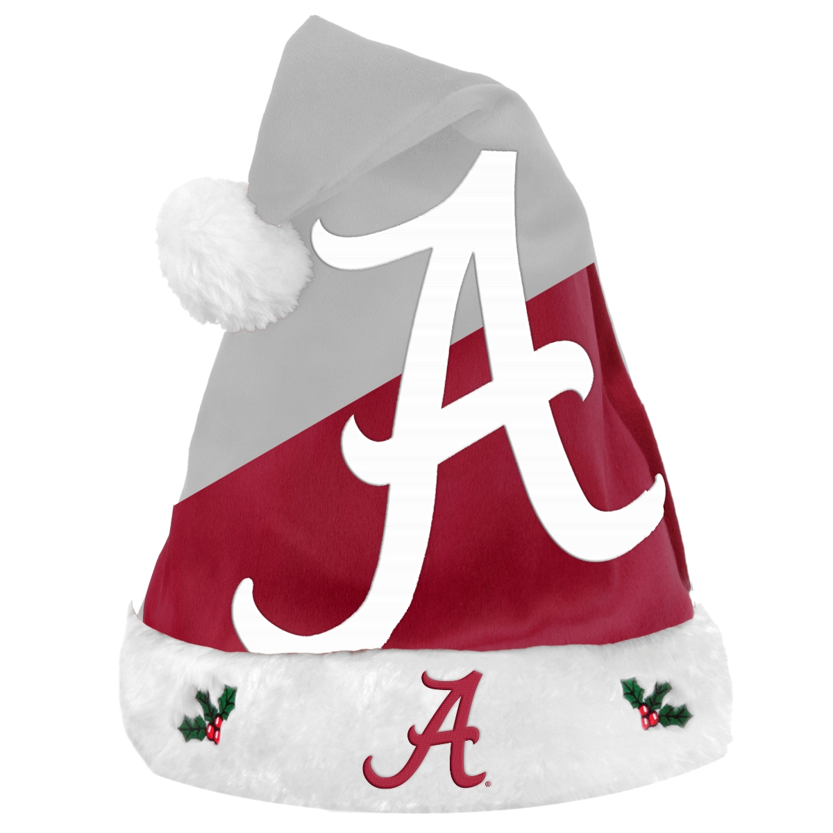 Alabama Crimson Tide 2018 NCAA Basic Logo Plush Christmas Santa Hat