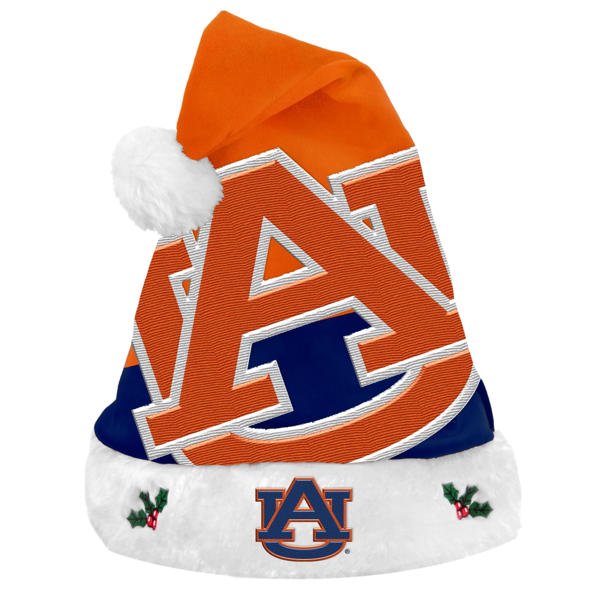 Auburn Tigers 2018 NCAA Basic Logo Plush Christmas Santa Hat